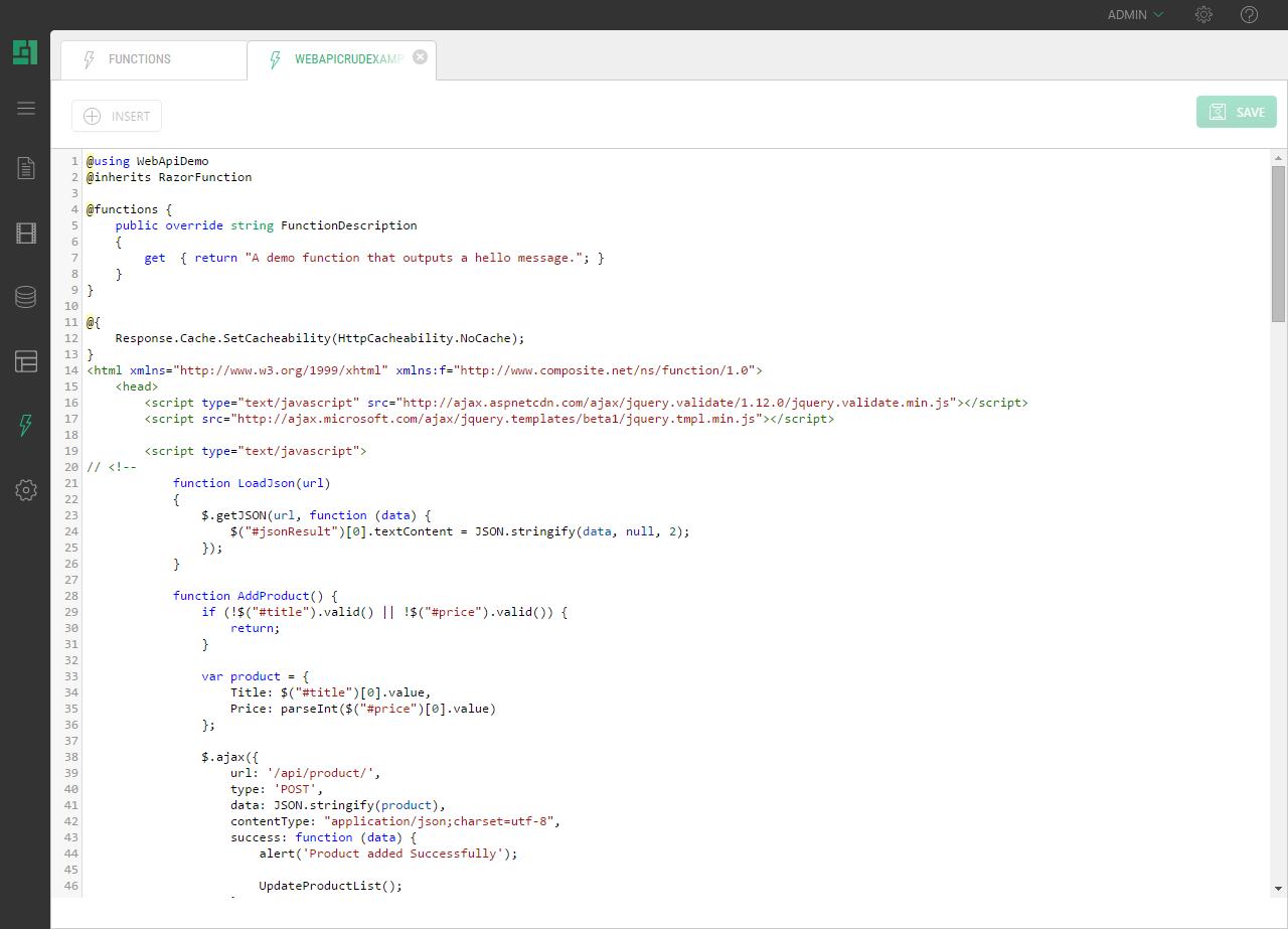 Web API - Introduction - C1 CMS