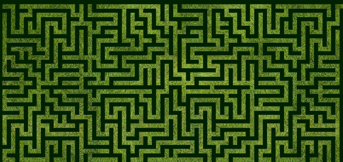 Green maze illustration